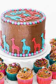 diy triple chocolate gender reveal cake via bakelovegive com