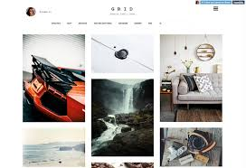 Tumblr Photography Themes Grid Premium Responsive Portfolio Tumblr Theme