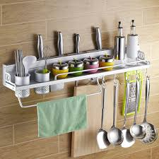 Kitchen hanging rack Storage Rack Space Aluminum Kitchen Utensils Hanging Rack Shelving Rack Turret Tool Holder Kitchen Spice Rack Hardware Supplies Aliexpresscom Space Aluminum Kitchen Utensils Hanging Rack Shelving Rack Turret