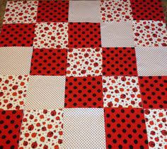 Lady bug baby quilt fringed Rag quilt kit 75 pre cut | Quilts ... & Lady bug baby quilt fringed Rag quilt kit 75 pre cut | Quilts | Pinterest | Rag  quilt, Lady bugs and Baby rag quilts Adamdwight.com