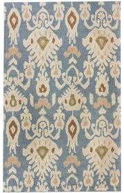 new transitional light blue faded antique ikat area rug carpet hand tufted
