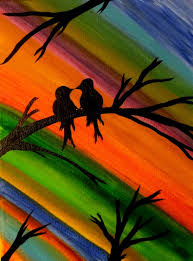 my original painting http wanelo p 21983344 love bird painting colorful art bird lover valentines gift contemporary canvas wall decor acrylic painting  on wall art lovers with my original painting http wanelo p 21983344 love bird painting