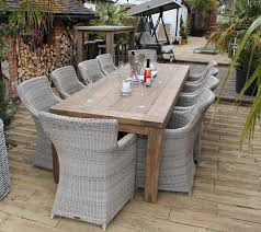 10 seater dining set 280cm reclaimed