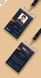 Card Vertical Identity Template com Company Psd – Uxfree