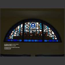 st eugene de mazenod brownsville tx faceted glass of the calvary of