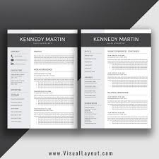 Two Page Resume Template Free Download Microsoft Word Minimal 2