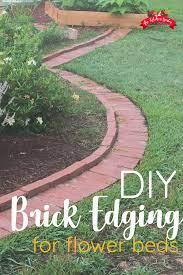 diy brick garden edging in a weekend