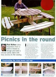 circular picnic table plans