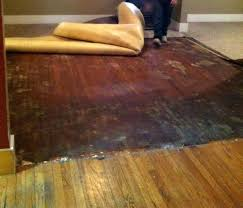 remove linoleum from wood floor how