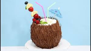 Coconut Cocktail 3d Cake How To Decorate With Chocolate By