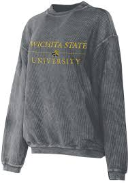 Wichita State Shockers Womens Grey Corded Crew Sweatshirt
