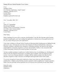 Preschool Teacher Cover Letter Examples Tomyumtumweb Com