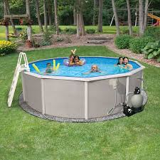 Image Blue Wave Blue Wave Belize Round Above Ground Swimming Pool Package 15ft Round 52in Deep Walmartcom Walmart Blue Wave Belize Round Above Ground Swimming Pool Package 15ft
