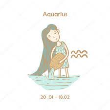 тату для девушек водолей милый знак зодиака водолей векторное