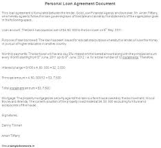 Private Personal Loan Agreement Template