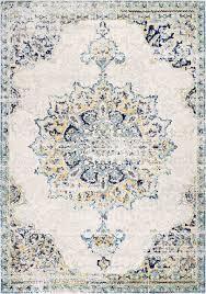 nuloom blue vintage medallion leola rug