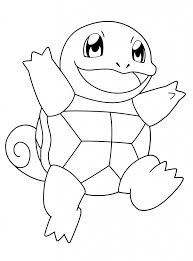 Small Picture Squirtle Coloring Page In Pokemon Coloring Pages Shimosokubiz