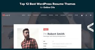 Wordpress Resume Theme Unique Top 44 Best WordPress Resume Themes For Online CVs