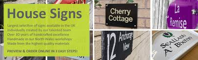 house signs and nameplates lovingly handcrafted in north wales to