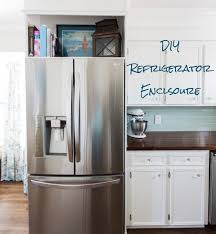 diy refrigerator enclosure