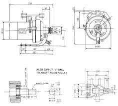 clutch motor dimension
