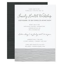 Formal Black White Stripe Line Workshop Event Invitation