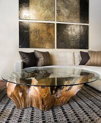 furnitures white whased reclaimed tree stump tables on wheels modern living room with white tufted