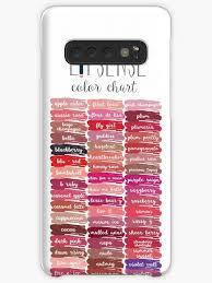 Lipsense Colors Chart Lipsense Lipstick Lipsense Chart Lipsense Color Chart Lipsense Colors Lipsense Distributor Case Skin For Samsung Galaxy By Beebeachey