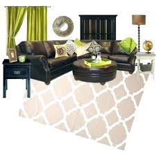 casual green and brown room ideas living lime outstanding cream