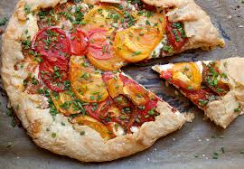 Heirloom Tomato Tart: Homemade pie crust with creamy ricotta cheese and  perfectly ripe heirloom tomatoes