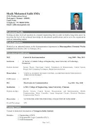 sample resume for engineering freshers resume for freshers engineering  students best resume collection sample resume for