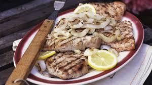 Grilled Swordfish Steaks with Lemon Recipe