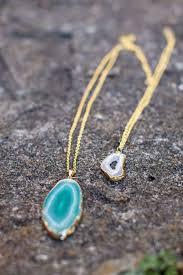 agate diy pendant necklace helloglow co