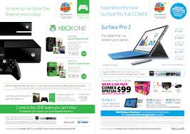 comex 2014 laptop deals xbox and surface pro 3
