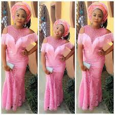 Glamorous Aso Ebi Lace Styles For Wedding Guests