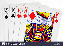 Face Card Design Face Cards Of Four Kings Playing Cards On White Background