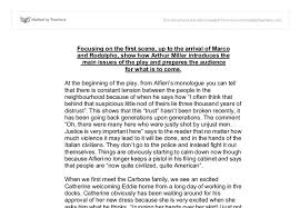 a view from a bridge essay gcse english marked by teachers com document image preview
