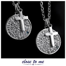 pair necklace silver close to me pair necklace pair couple coin blue diamond silver accessories pendant necklace pair sn13 185 sn13 186