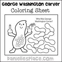 George Washington Carver Coloring Sheet From Www Daniellesplace Com