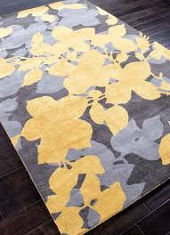 rugs hand tufted fl pattern wool yellow gray area rug and brown blue