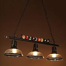 ladiqi 3 lights island light hanging pool table light fixture pendant light with clear glass sha