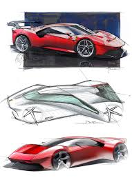 The interior is very much the same as that of the donor car. Design Futuristic Autodesign Automotive Car Automotivedesign Cargram Sketch Designsketch Concept Cars Concept Car Interior Design Concept Car Design