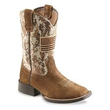 Ariat Kids Patriot Square Toe Western Boots