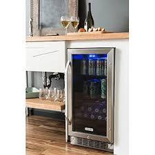 built in beverage refrigerator. EdgeStar CBR901SG 80 Can 15 Inch Wide Built-In Beverage Cooler - Black/Stainless Steel Built In Refrigerator R