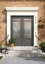 double fiberglass entry doors