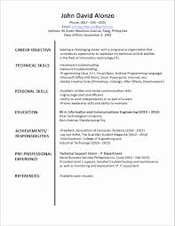 Basic Resume Format Pdf Best Of Cool Job Resume Sample Format Pdf