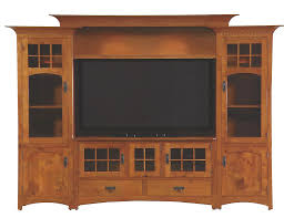 Quarter Sawn Oak Bedroom Furniture Handmade Winchester Bridge Wall Unit Entertainment Center In