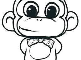 Cute Cartoon Monkey Coloring Pages Psubarstoolcom