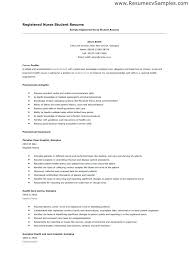 Resume Nursing Student Simple Sample Resume High School Student No Job Experience Template College