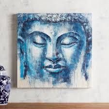 indigo buddha canvas art pier 1